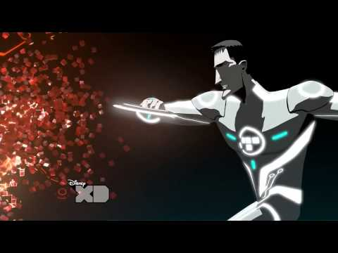 Tron Uprising - art hidden inside a Disney CGI cartoon HD 720p TV series
