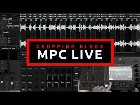 Chopping Block | MPC Live Beat Making | Sampling Jill Scott