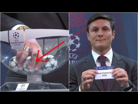 Champions League draw fixed by Zanetti Watch now 14 December 2015