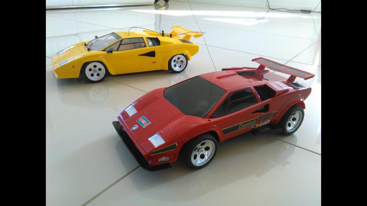 1990 lamborghini countach rc taiyo vintage - twin motor 2wd & tamiya