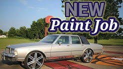 New paint ...silver with blue pearl Box Chevy