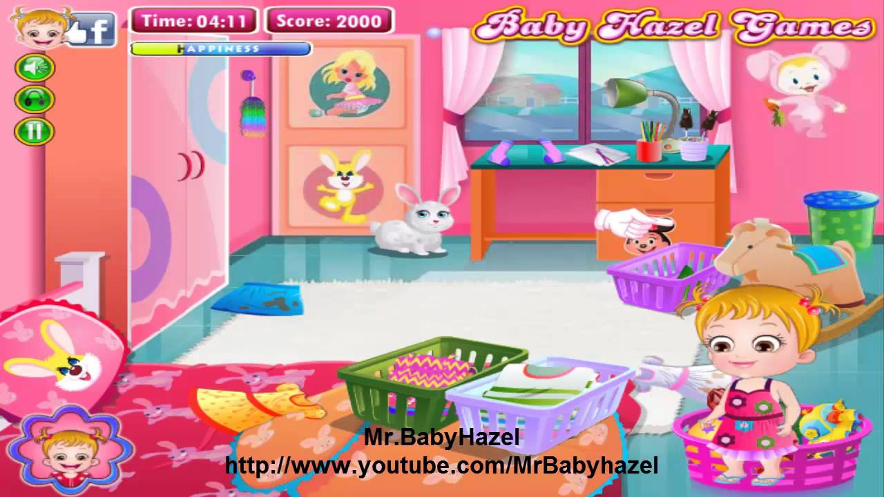 Baby Hazel Cleaning Time GamesBaby Movie level 2 YouTube