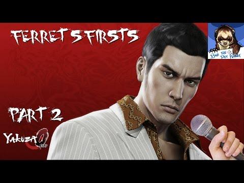 Yakuza 0 part 2/2 (Ferret's Firsts) - Karaoke Minigames!