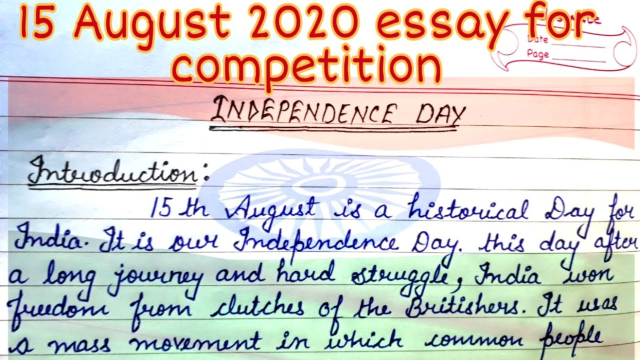 Short essay on Independence day   full essay with heading ...