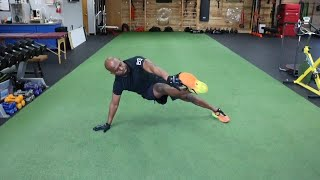 PUSH UP TO SIDE TOE TOUCH