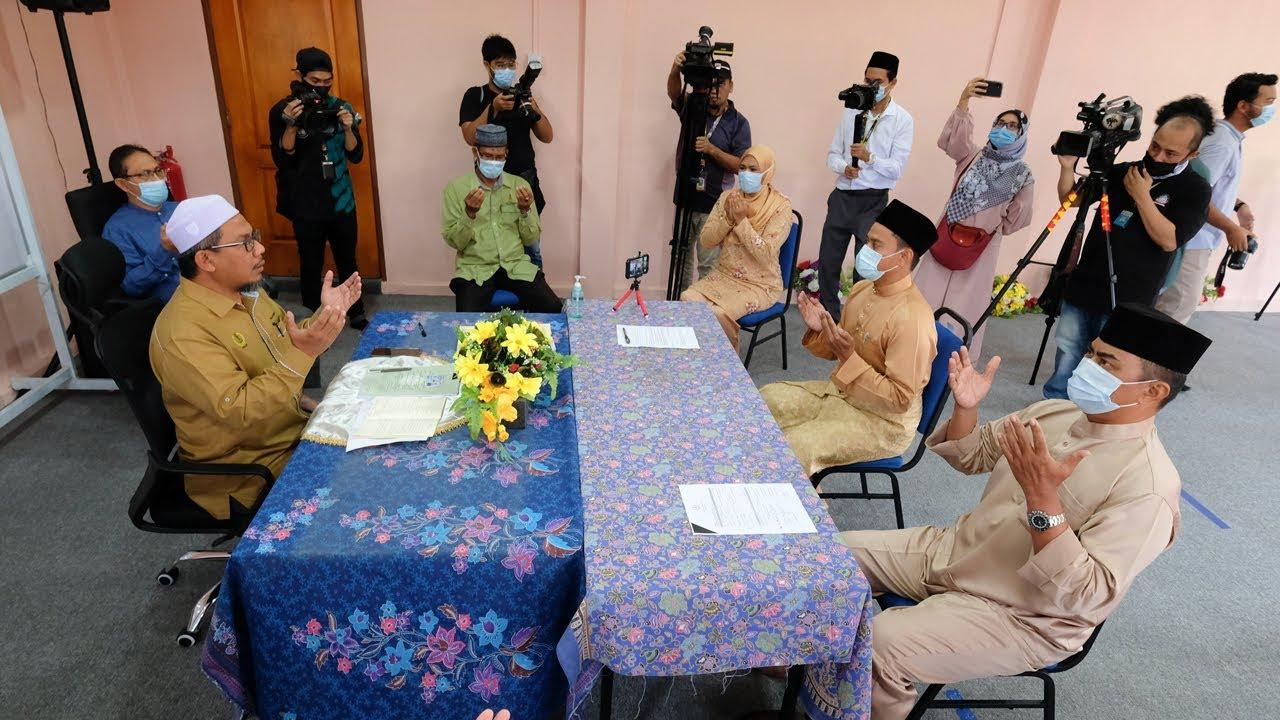 Majlis akad nikah ketika PKP yang pertama di Perak - YouTube
