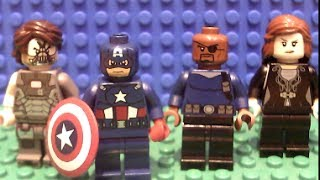 Captain America 2 The Winter Soldier Trailer #2 In Lego