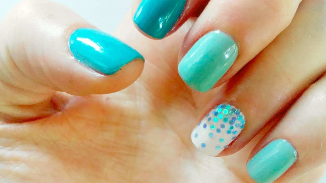 Nail art blue ideas 2016 for short nails for summer, easy