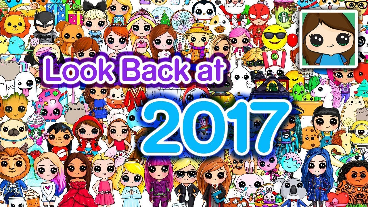 Free Poster Look Back At 2017 Draw So Cute Clipzui Com