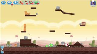 angry birds   poached eggs level 43 3 1 3 star tutorial