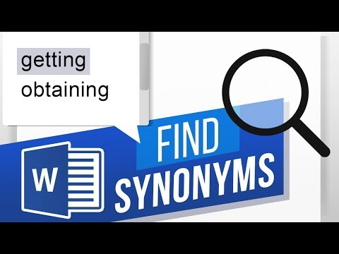 How To Find Synonyms In Word | How To Find Similar Meaning Words | Thesaurus In Word
