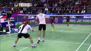 Yonex French Open 2015 | Badminton F M5-MD | Lee/Yoo vs Con/Kol thumbnail