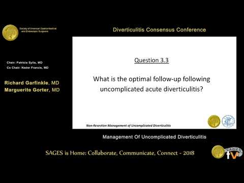 Non-resection management of uncomplicated diverticulitis