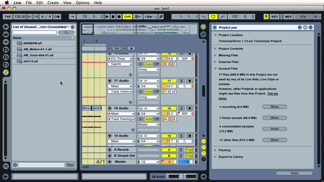 how to bounce files from ableton live
