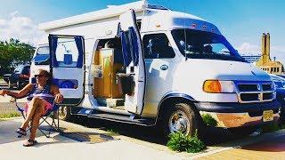 MILLION DOLLAR VANLIFE WHEEL ESTATE | Van Life at The Jersey Shore | Complete Van Tour