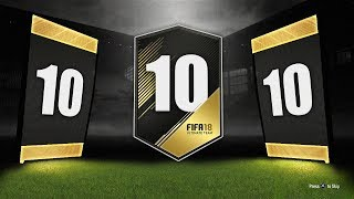 10x GUARANTEED TOTW PACKS! - FIFA 18 Ultimate Team