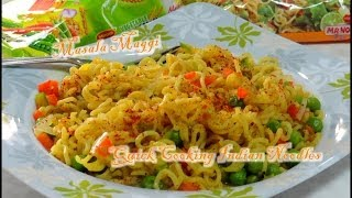 Masala Maggi Video Recipe for Bachelors or Busy People - Quick Cooking Spicy Noodles by Bhavna