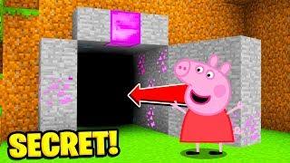Minecraft : We Found  PEPPA PIGS SECRET WORLD! (Ps3/Xbox360/PS4/XboxOne/PE/MCPE)