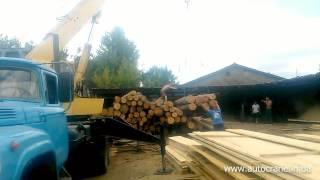 Услуги автокрана Харьков - Выгрузка леса из авто(, 2015-12-11T11:39:38.000Z)