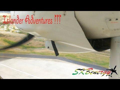 Islander Adventures !!!! Trans Anguilla Airways arrival into Antigua !!!
