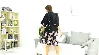 【France Carey Kay】Aristocratic luxury sleeve silk nightgown