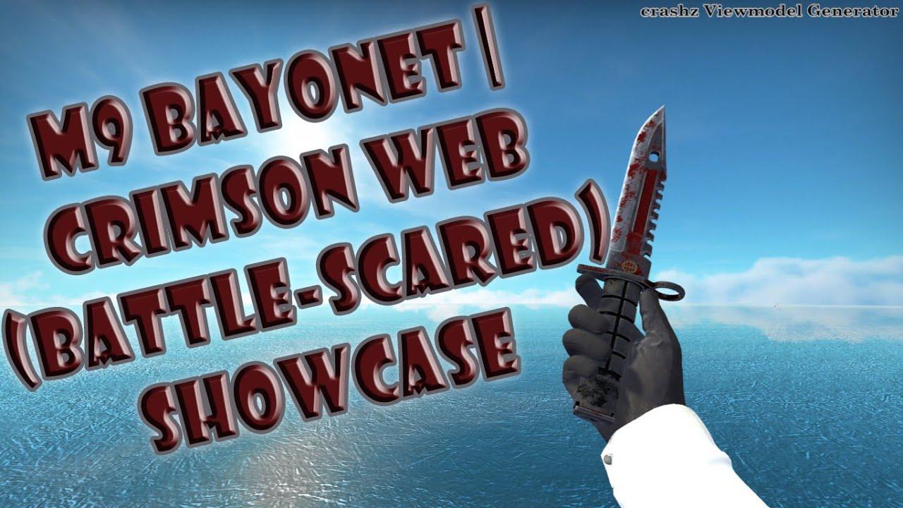 M9 Bayonet | Crimson Web (Battle-Scarred) SHOWCASE {CS:GO}