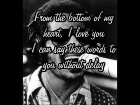 Stevie Wonder - From the bottom of my heart (lyrics)
