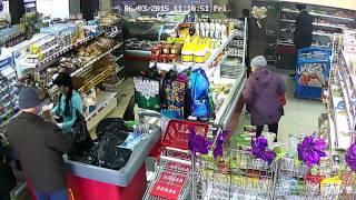 Воровство в маркете Александровск-Сахалинский №1