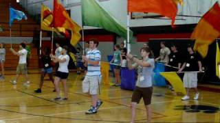 6-19-09 PPC Percussion section learning the flag routine.