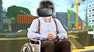 SYMULATOR JAZDY NA WÓZKU INWALIDZKIM! (Wheelchair Simulator VR)