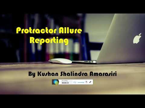 Protractor Allure Reporting
