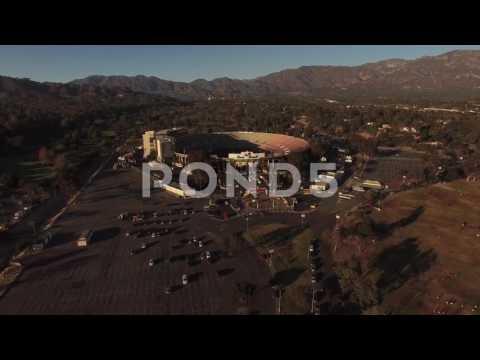 "Aerial ""push Into"" The Rose Bowl In Pasadena, California"