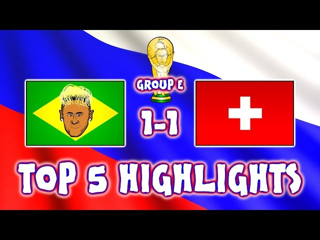 ⚽BRAZIL vs SWITZERLAND!⚽ Top 5️⃣ Highlights (1-1 Zuber Coutinho goal Jesus penalty World Cup 2018)