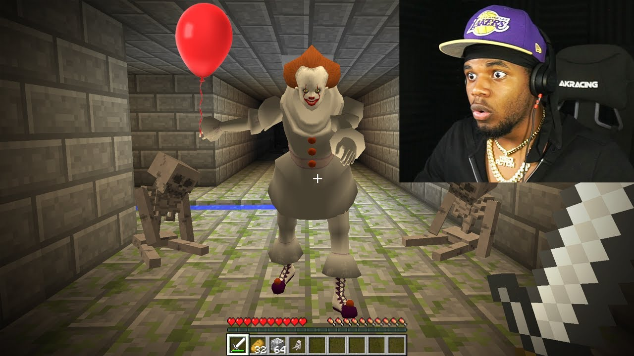i found pennywise in minecraft... *SCARY*