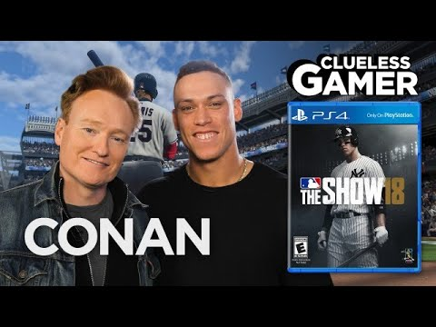 """Clueless Gamer: """"MLB The Show 18"""" With Aaron Judge  - CONAN on TBS"""
