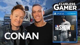 "Clueless Gamer: ""MLB The Show 18"" With Aaron Judge  - CONAN on TBS"