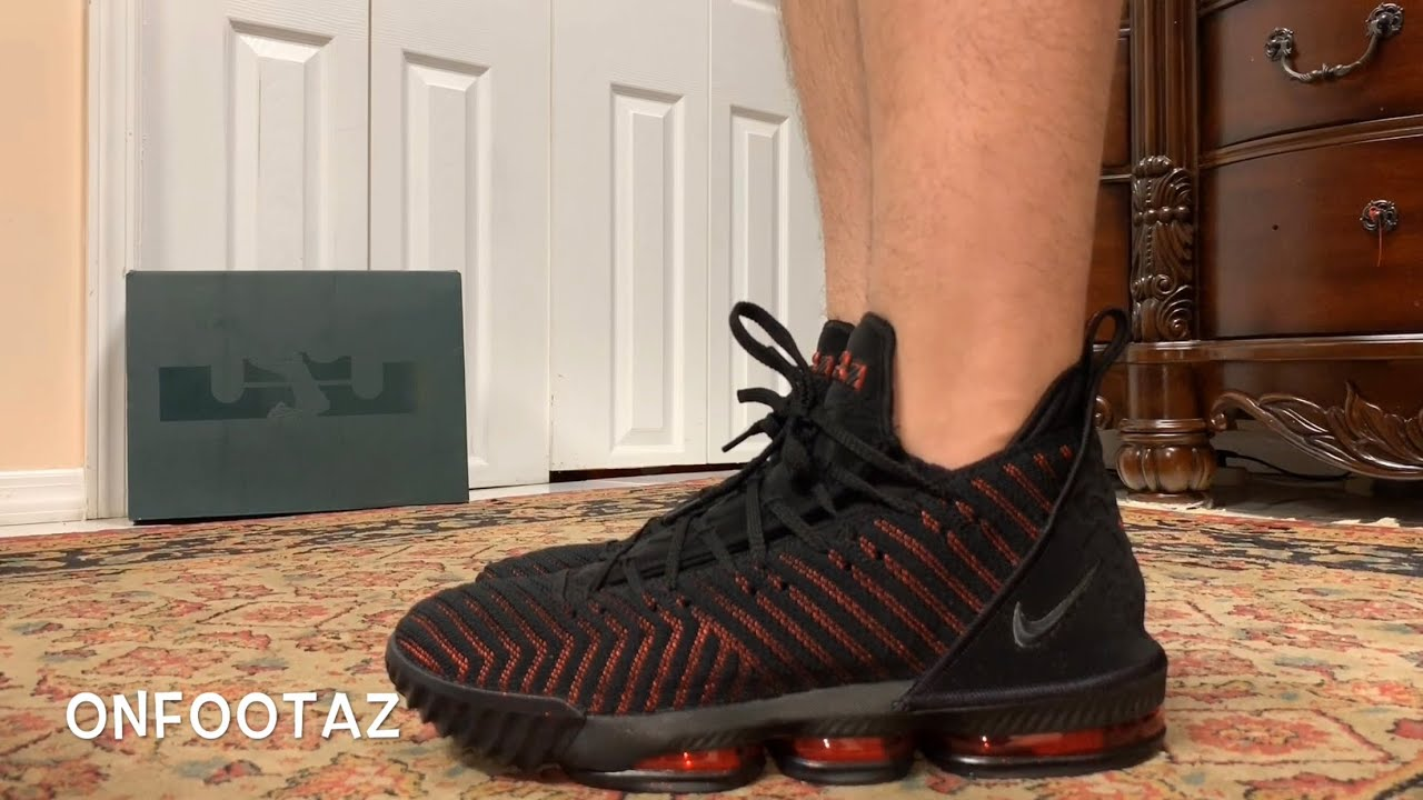 3c48221dd54f Nike LeBron 16 XVI Fresh Bred On Foot - YouTube
