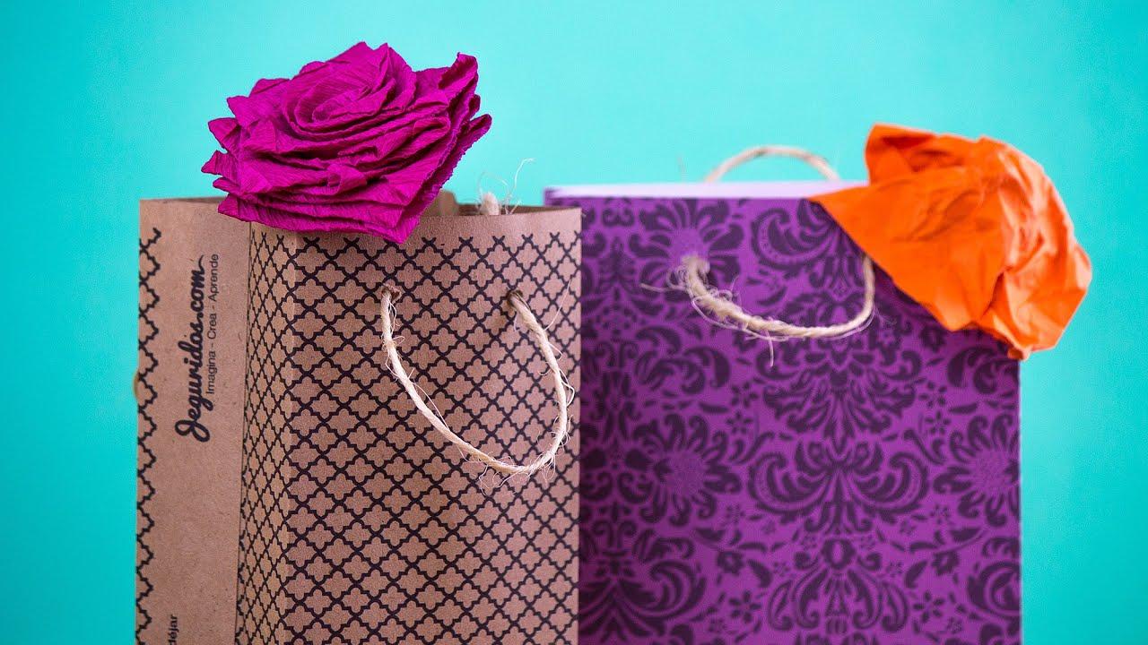 Bolsitas de papel para regalo f cil gift box youtube - Bolsa de papel para regalo ...