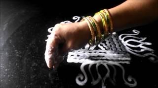 Simple Arisi Maavu Kolam   Easy Wet Rice Flour Rangoli Designs    Sudha Balaji  Muggulu