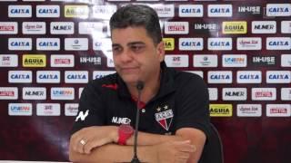 Coletiva - Técnico do Atlético Go - Jogo Atlético 1 X 0 Crac - Campeonato Goiano 2017