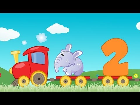 Invatam sa numaram   Trenuletul cu animale   Cantece pentru copii