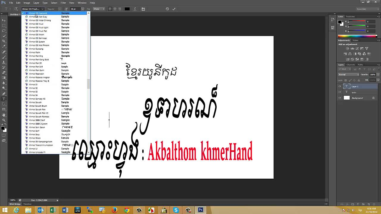 how to add fonts to photoshop cs6