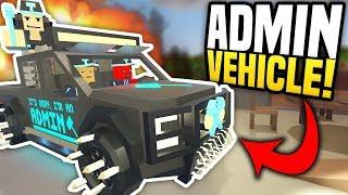 AMAZING ADMIN VEHICLE - Unturned Custom Car | Customizing An Admin Vehicle!