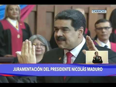 Así se juramentó Nicolás Maduro como PRESIDENTE de Venezuela para el período 2019-2025 (VTV)
