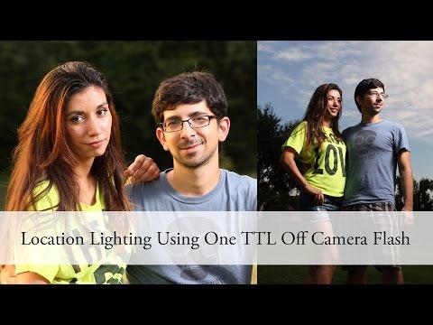 Location Lighting Using One TTL Off Camera Flash #aeocl - Canon Nikon Yongnuo