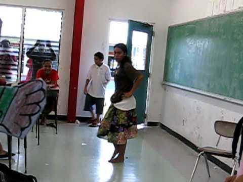 Flat Stanley visits Xavier High School, Chuuk, Micronesia