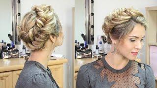 видео Прическа шишка на голове: различные варианты исполнения.