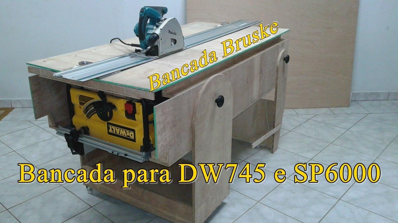 Bancada Para Dw745 E Sp6000 14 Youtube