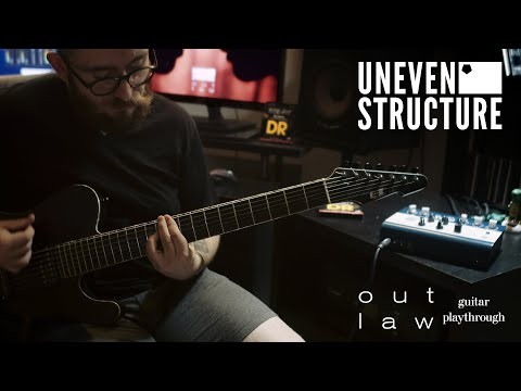 Uneven Structure - Outlaw - Official Guitar Playthrough & Tab