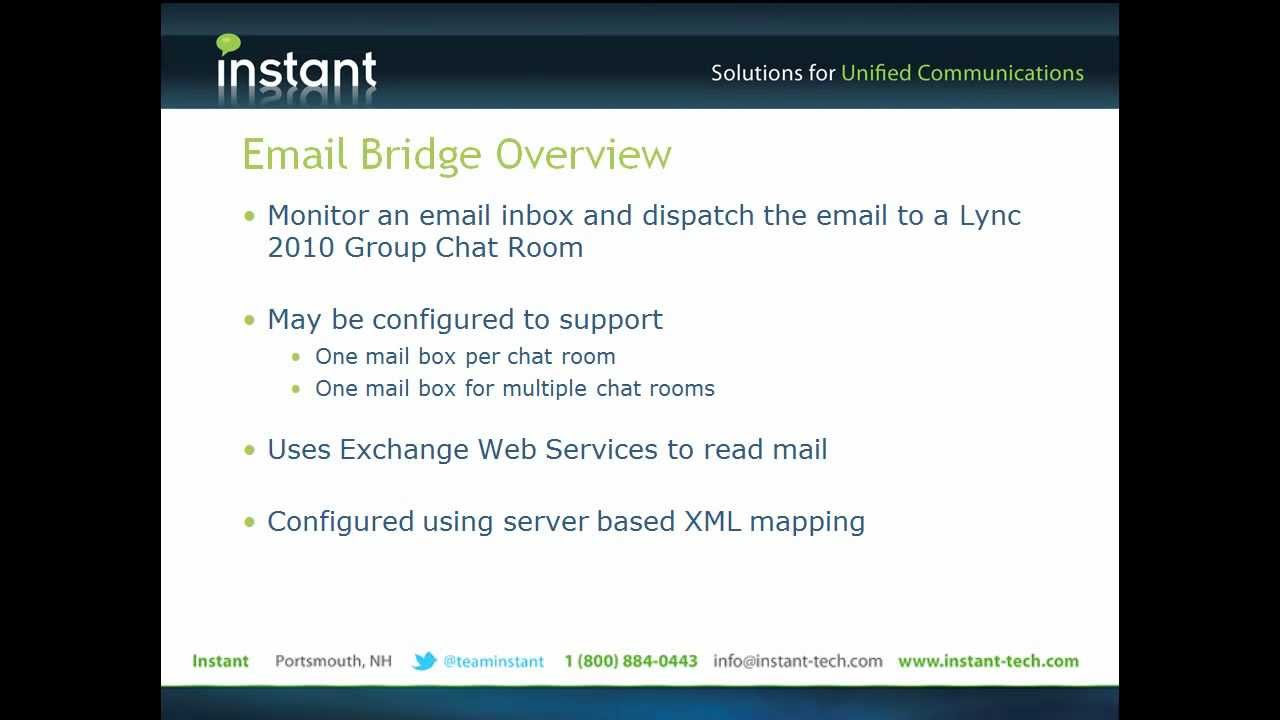 Instant Queue Manager : Instant alert manager for microsoft lync email bridge